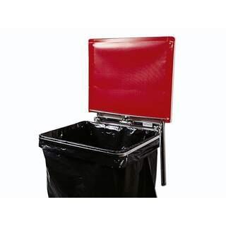 Väggmonterad säckhållare med plastlock | 125 liter