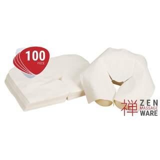 Engångsöverdrag huvudstöd massagebänk 100x