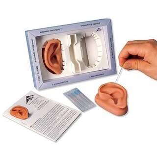 Akupunkturöron i SKINlike silikon i naturlig storlek 2st